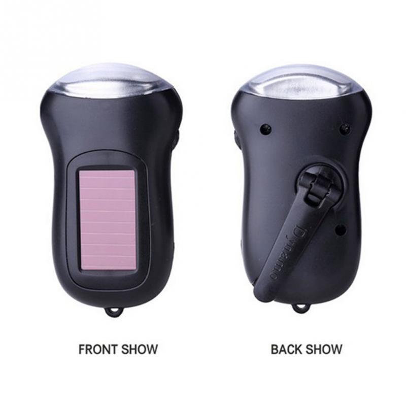 Beautiful Outdoor Portable Hiking Climbing Camping Rechargeable Solar Powered Led Flashlight Torch Hand-cranked Solar Power Light Torches Buy Now Camping & Hiking Sports & Entertainment