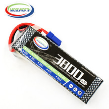 MOSEWORTH 2S RC Lipo battery 7.4v 3800mAh 25C For helicopter car boat quadcopter Li-Polymer batteria AKKU