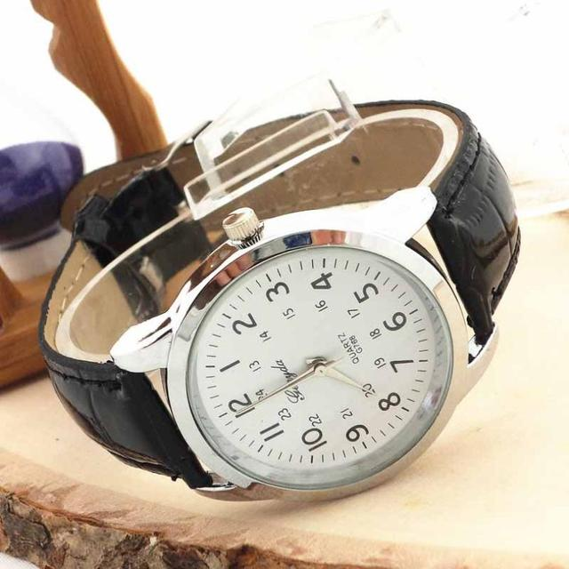 2018 Elegant Quartz Wrist Watch Men Watches Top Luxury Leather Wristwatch For Male Clock Relogio Masculino Relog Men Hodinky  #D