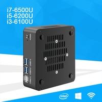 Mini Desktop PC Core I7 6500U I5 6200U I3 6100U Processor Windows 10 DDR4 RAM MSATA