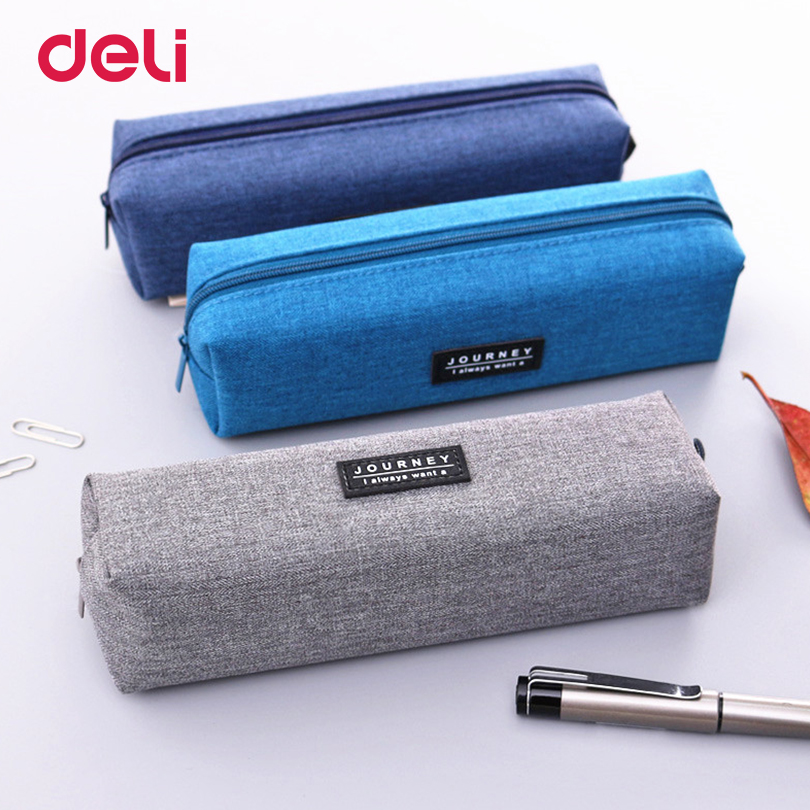 Deli School supplies Stationery Kawaii Pencil case for girl Kids Gift Canvas Pen Bags Cute School pencil case school Pencil Bag