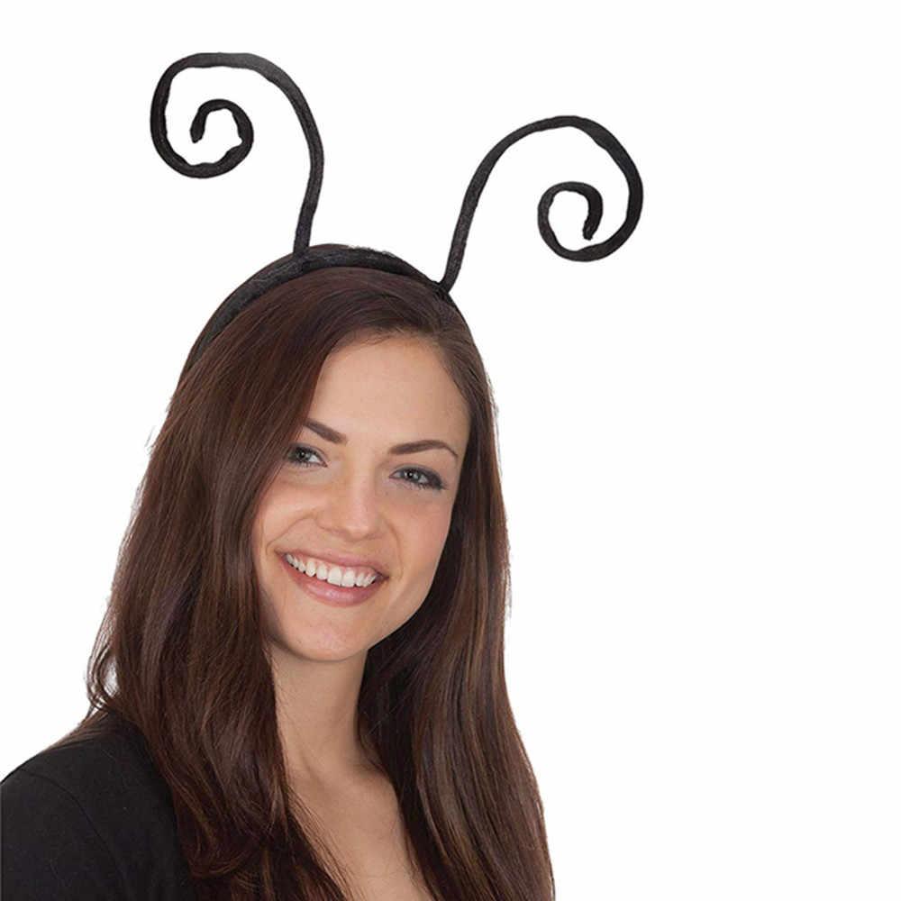 Обруч для волос модный Многоцветный Творческий Деньги странные черные Ant Antennae обруч для волос обруч индивидуальные волосы однотонные повязки на голову z0305