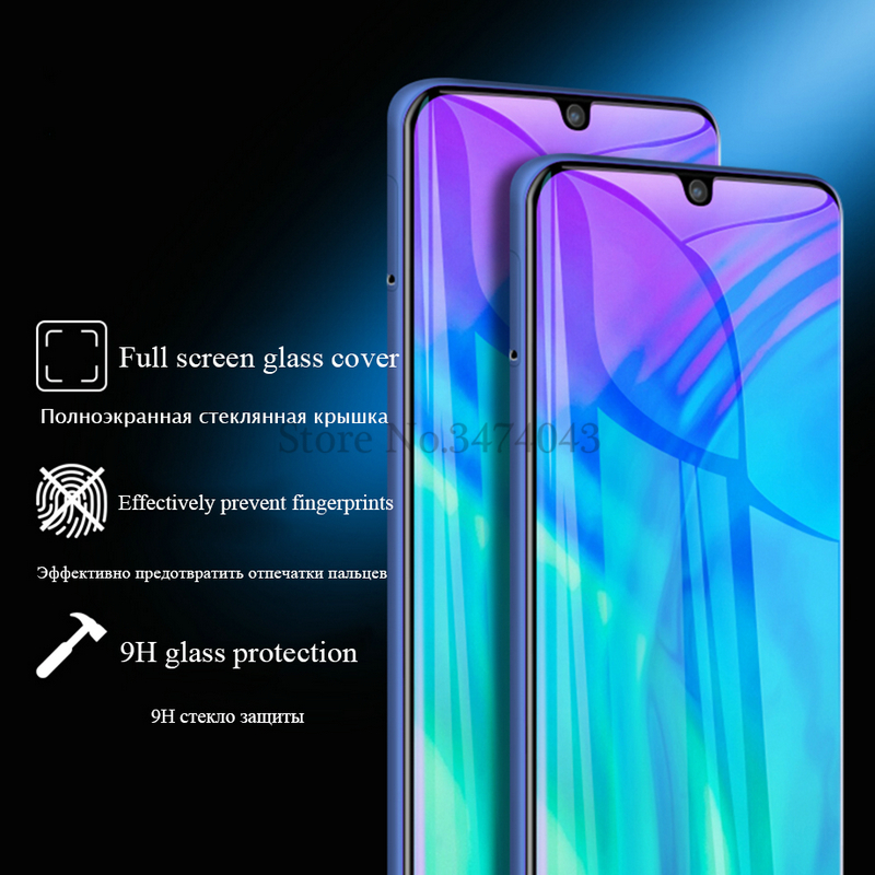 Image 3 - 2Pcs Tempered Glass For Huawei Honor 10i 10 lite Full Protective Film Screen Protector For Huawei Honor 10 lite 10i Glass Case-in Phone Screen Protectors from Cellphones & Telecommunications