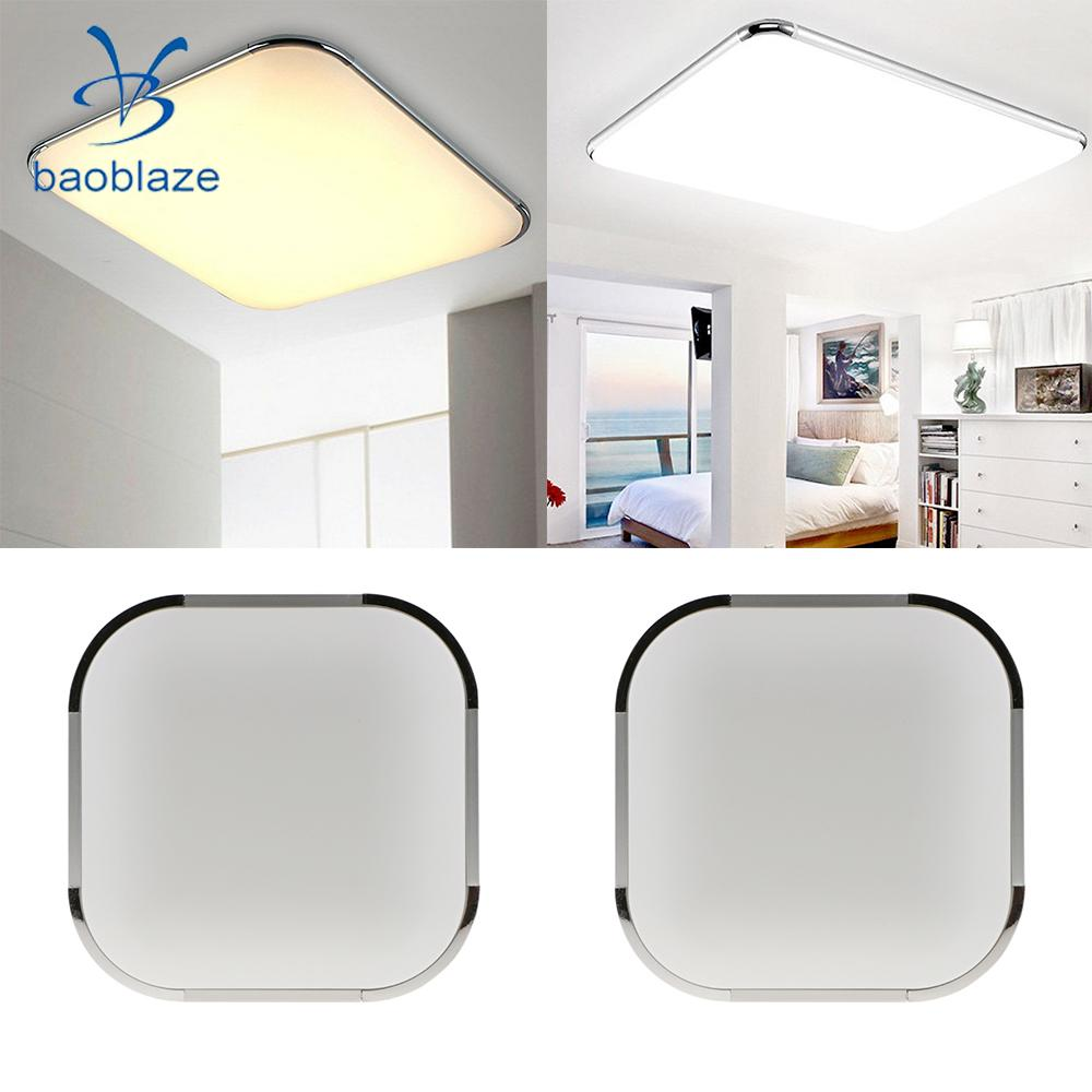 PACK 2 Square Modern Flush Mount Ceiling Light Lamp LED Panel Downlight