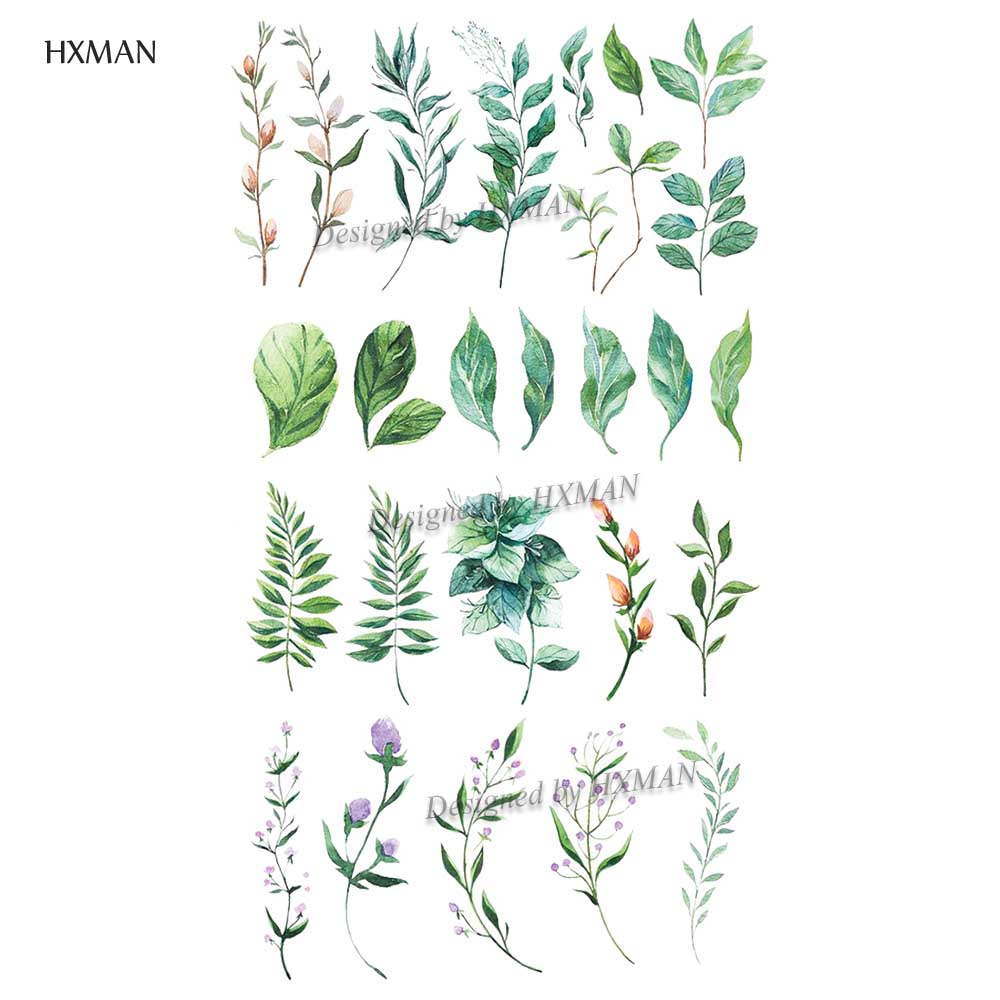 HXMAN Flower Temporary Tattoos Sticker Waterproof Fashion Women Arm Face Fake Body Art 9.8X6cm Kids Adult Hand Tatoo P-075
