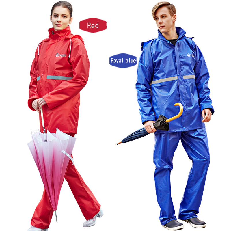 Waterproof Single layer Rainwear Rain Coat Men Women Outdoor Sport Camping Hiking Imperm ...