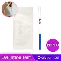 20 piezas hogar PH de la tira de prueba temprano LH papel de prueba urinaria de corriente de tiras de prueba mujer la ovulación rápida prueba de detección