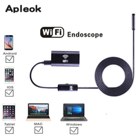 8mm Lens Android IOS Wifi Endoscope With 1m 1 5m 2m 3 5m 5m Cable Endoscope