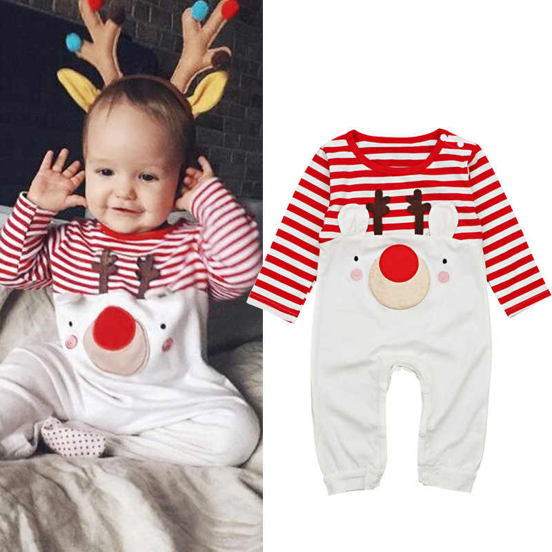 894a7062c Autumn Winter Baby Rompers 2018 Santa Claus Boys Girls Clothes Christmas  Baby Bodysuits Cartoon Long Sleeves