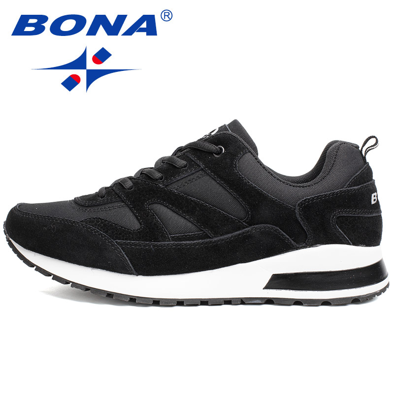 BONA New Basic Style Men Running Shoes Outdoor Activities Jogging Shoes Suede Mesh Sneakers Comfortable Athletic