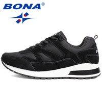 BONA החדש זמש סגנון בסיסי פעילויות חוצות גברים נעלי ריצה נעלי ריצה נעלי ספורט רשת נעלי ספורט נוחות עבור Men52