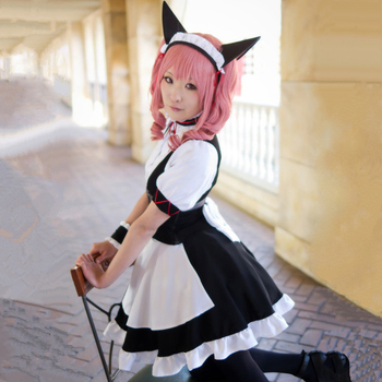 0f5e1fa41c2be Faris Nyanyan Cosplay Costumes Maid Wear Japanese Anime Steins Gate 0 Clothing  Halloween Costumes Women Dresses