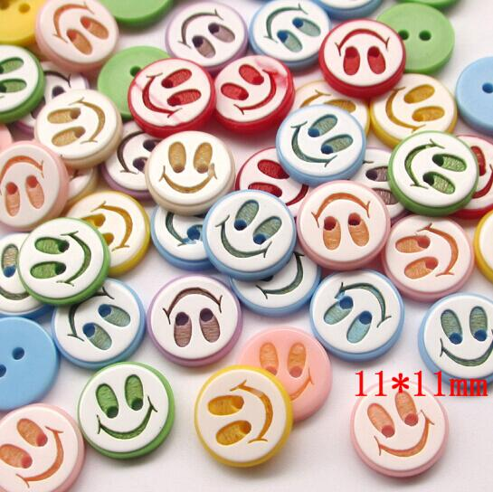 CN/_ 100X Candy Colorful Flower Flatback Wooden Buttons Sewing Craft Scrapbooki