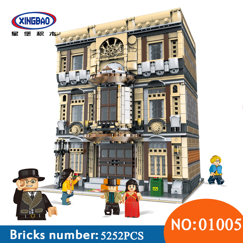 XingBao 01005 Block 5052Pcs Genuine Creative MOC City Series The Maritime Museum Set Building Blocks Bricks Toys For Children