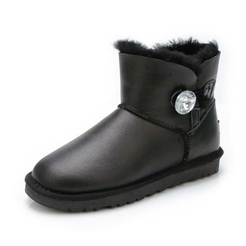 2019 Top Quality 100% Genuine Sheepskin Leather Winter Boots Waterproof Women Snow Boots Natural Fur Women Fashion ankle boots-in Ankle Boots from Shoes    1