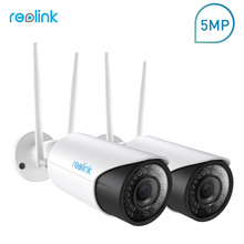 Reolink Security WiFi IP Camera 2.4G/5G 5MP HD 4x Optical Zoom Built-in 16GB Micro SD Card RLC-411WS-2-5MP(2 cam pack)