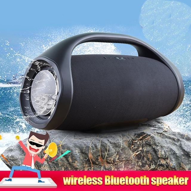 Portable Waterproof  Bluetooth Speaker Outdoor HIFI Column WirelessSubwoofer Sound Box Support FM Radio TF Mp3 Professional IPX7