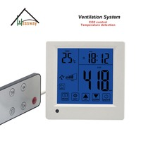Ajuste 350-1500ppm co2 monitor de qualidade do ar do sistema de ar para o controle Remoto