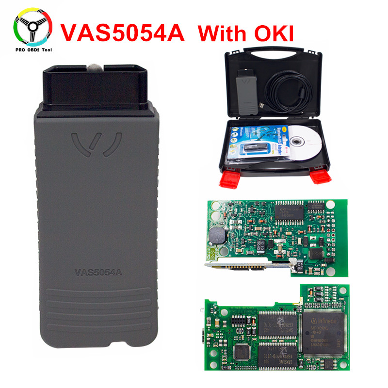 Free Shipping New Arrival VAS 5054a Plus With OKI Chip With Bluetooth Professional Diagnostic Scanner 5054a