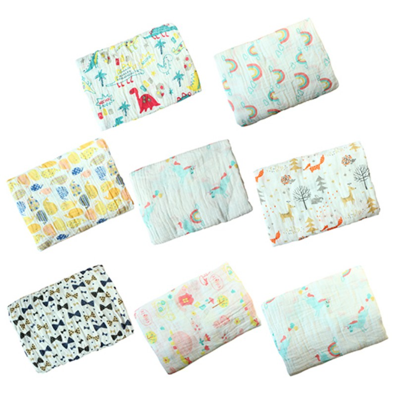 Baby Blanket Soft Bath Towel 120cm*120cm Newborn Muslin Swaddle Blanket Infant Cotton Double Gauze Hold Wraps Toddler Blanket newborn baby blanket bed crib toddler unicorn pattern knit blankets infant soft baby fleece pram crib blanket size 60 120cm