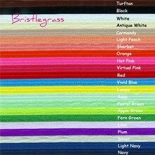 BRISTLEGRASS 2, 5 ярдов, 5/8 дюйма, 15 мм, одноцветная блестящая эластичная лента для волос, повязка для волос, платье с повязкой, кружевная отделка, сделай сам, шитье, ремесло