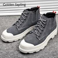 זהב שתיל סניקרס החורף Mens חיצוני חורף נעלי הליכה עמיד למים נעלי נעלי הספורט של הגברים חדשים איש מגפי מעקב