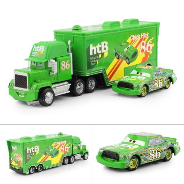 pixar cars 2 jouets diecast metal mack transporteur mack truck chick hicks racing n 86. Black Bedroom Furniture Sets. Home Design Ideas