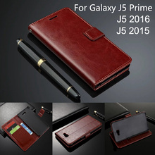 Leather Case For Samsung Galaxy J5 Prime G570 sm-G570f Ds Flip Cover Case For Samsung Galaxy J5 2016 J510F 2015 J500 Wallet Card цена и фото