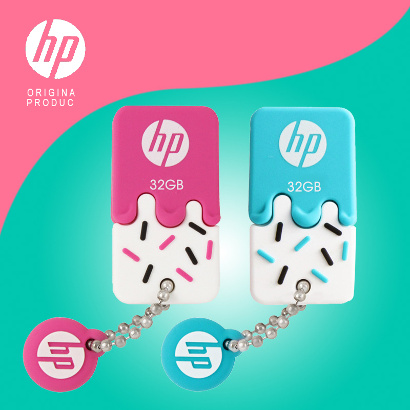 Original HP USB Flash Disk 32gb Pen Drive  64gb Com X178b 16gb Cartoon Cle Usb Mini Memory Pendrive Car Computer Dual Purpose