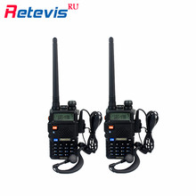 2Pcs Handheld Transceiver Retevis RT5R Walkie Talkie 5W Scan DTMF VHF/UHF Frequency Portable Radio Communicator Tool In Moscow