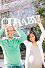 Prop for Maternity Photos – Oh Baby – Neutral Mint Prop or Nursery and Shower Deco wedding decoration letters