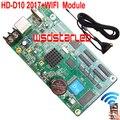 HD HD-D10 + WIFI Модуль 2017 Новый СВЕТОДИОДНЫЙ контроллер перемычки дисплея 4 * HUB75 USB асинхронный полноцветный СВЕТОДИОДНЫЙ управления карты D10