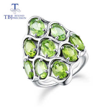 TBJ,925 sterling silver natural gemstone peridot big size rings fine jewelry for woman anniversary party wear nice gift - DISCOUNT ITEM  8% OFF All Category
