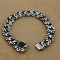 Various Lengths Solid 316L Stainless Steel Rose Flower Men S Biker Bracelet 4R013 8 7