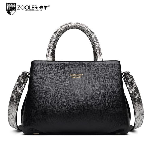 aeba11ec7 ZOOLER Serpentine Pattern Handbag 2018 Spring New Large Capacity Genuine  Leather All Match Tote Bags Female Fashion Handbags