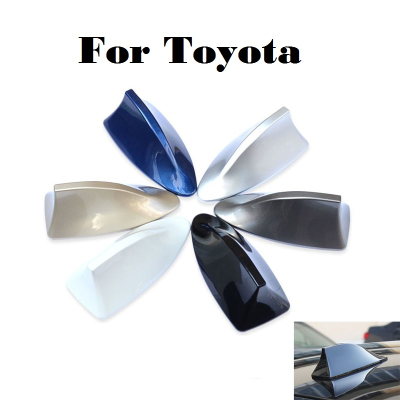 2017 Car radio shark fin antenna signal stickers for Toyota 4Runner Allex Allion Altezza Aurion Auris Avalon Venza Car styling car shark fin antenna radio signal refitting accessories for toyota corolla rav4 yaris prius hilux avensis camry car styling