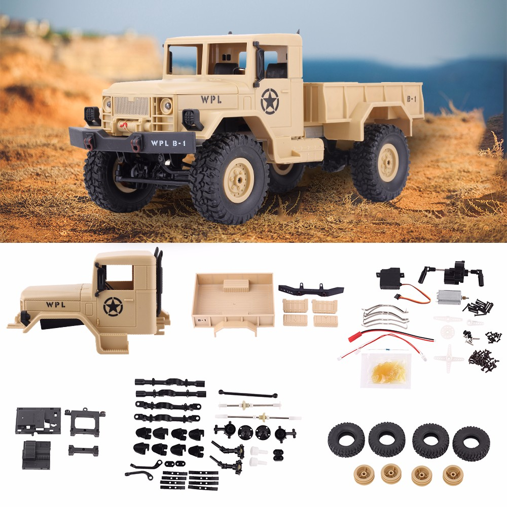 WPL B-14K DIY Car Kit 1/16 2.4G 4WD RC Crawler Off Road Car Without Electronic 4 Wheel Drive Remote Control Car Toy For Children