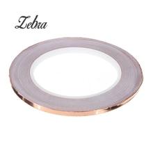 6mmx20m Single Face Adhesive Electric Conduction Copper Foil Tape EMI Shielding Guitar Slug and Snail Barrier