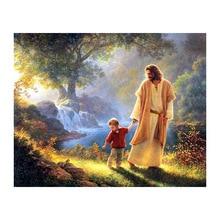 diy painting,diamont painting,5d  diamond painting Jesus and the boy