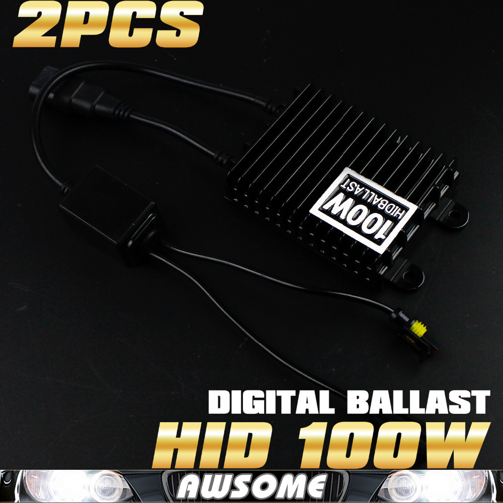 1Pair Car Replacement Ballast High Power 100W HID Slim Digital Xenon Ballast Hid Ballast For H1 H3 H7 H8 H9 880 881 Hid Bulb universal slim replacement 35w car hid ballast dc 9 16v