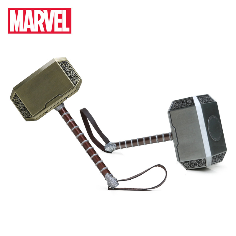 20cm Marvel Toys Thor's Hammer The Avengers Superhero Thor Cosplay Props Metal Hammer Collectible Model Toy Thor Custome