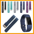 10 pcs/ lot Fashion sport soft silicone strap band for fitbit charge 2 bracelet watchband for fitbit chargr 2 bands