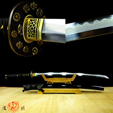 Handmade  Japanese Clay Tempered Sword 1095 steel and iron katana Full Tang Sharp