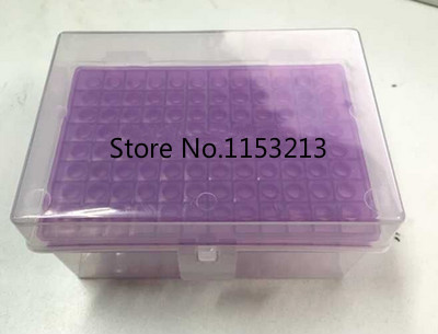 Plastic pipette tips box 96 vents for 300ul chemical biological laboratory equipment plastic pipette tip cartridge