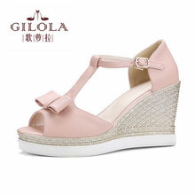 e696260b5c29d new platform lady open toe wedge high heels women sandals spring summer  women s shoes woman flowers