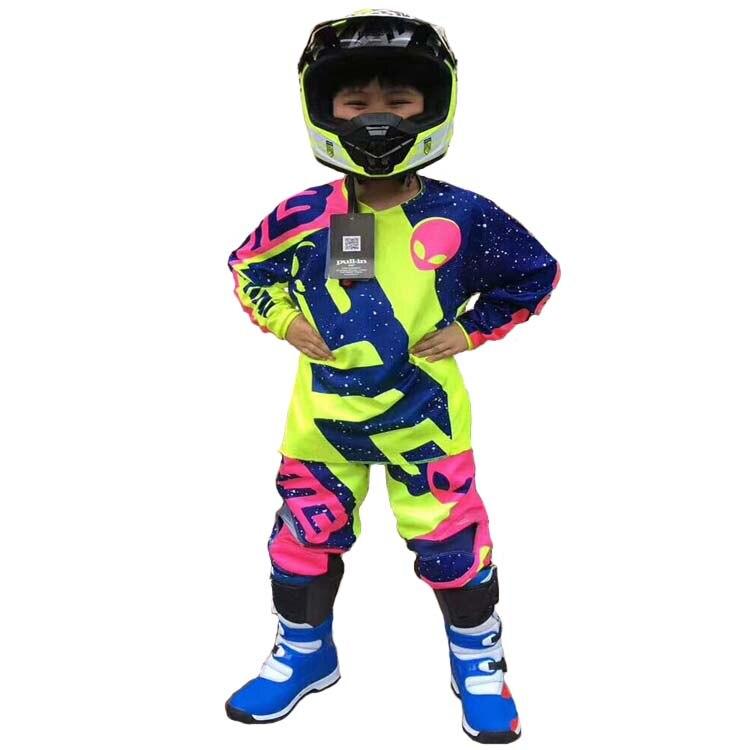 Bmx tuta da corsa mountain bike sport all'aria aperta ATV MTB DH GP off road motocross protezione della bici in discesa vestiti dei bambini. Pantaloncini