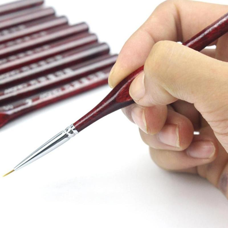 1pc Hook Line Pen Gouache Oil Painting Watercolor Hand-painted Hook Line Pen Stroked Tip Artistic Special Paint Brushes