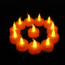 Фотография 12pcs/set Led Candles Yellow Flickering LED Candle Light Battery Operated Electronic Fameless Tealight Candle Valentine