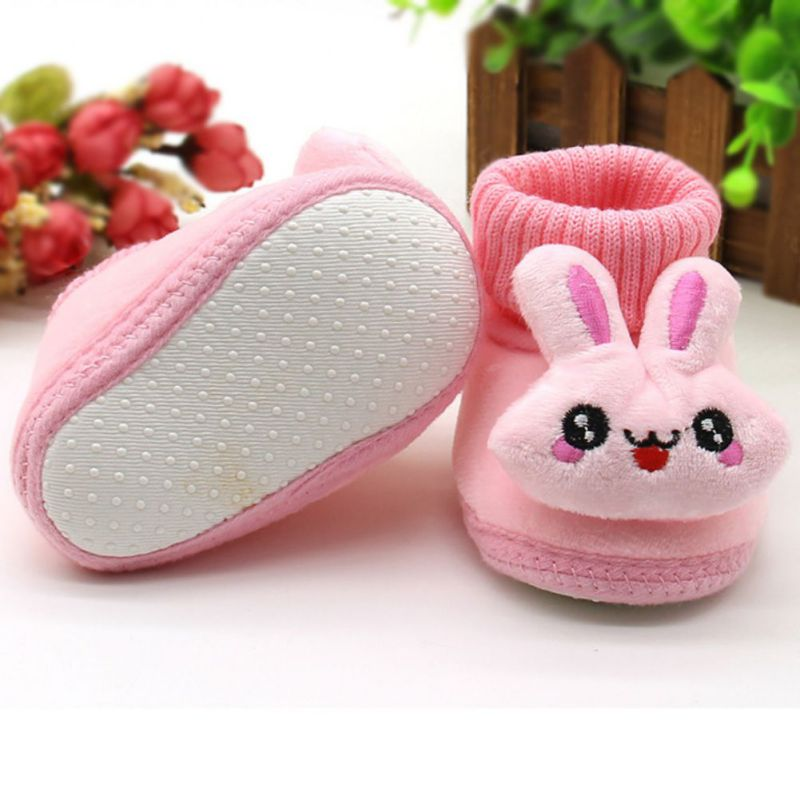 Baby Boy Girl Boots Soft Bottom Anti-slip Baby Shoes Bootie Infant Toddler Prewalker