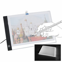 USB A4 LED Ultra Thin Art Facsimile Drawing Board Light Box Tracing Table Pad Artist Copy